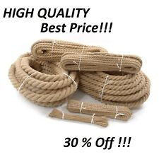 Natural Jute Rope Twisted Decking Cord Garden Boating Sash Camping 6-60mm