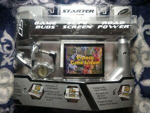 Nintendo DS Original Starter Kit By Intec Game Buds Safe Screen Road Power New