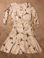 Vintage SAINT ROMEI Pure Silk Cream Midi Dress S 4