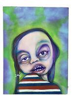 "Original Art ""RbG!""Outsider Urban Graffiti Trippy Surreal Portrait Street Face"