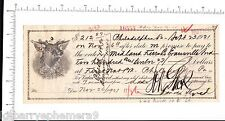 6248 Midland Furniture '22 letter check tax stamp Evansville IN Gluck Bros Phila