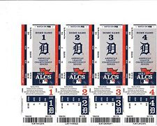 2013 BOSTON RED SOX VS DETROIT TIGERS PLAYOFFS TICKETS SHEET GAMES 3 4 5 STUB