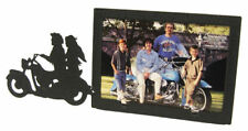 Motorcycle Couple 3x5H Black Metal Picture Frame