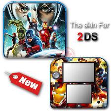 Captain America Avengers Spider Man Iron Man SKIN STICKER COVER for Nintendo 2DS
