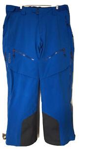 $250 Columbia Zip Down Blue Titanium Omni Heat Mens Ski Snowboard Pant Large F9