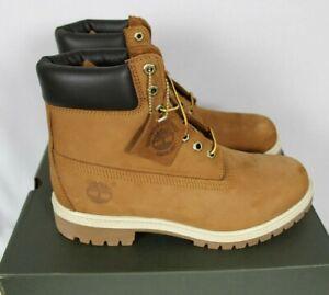 """Timberland Premium 6"""" Waterproof Rust Nubuck Leather Boots Sz 9.5W NIB TB072066"""