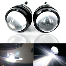 1Pair White CREE High Power Bull Eye LED DRL Projector Daytime Fog Light Alloy
