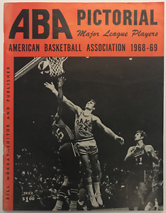 1968-69 AMERICAN BASKETBALL ASSOCIATION ABA PICTORIAL MAGAZINE RICK BARRY COVER