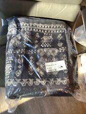 New Restoration Hardware GOA Linen King Duvet Cover $709 Indigo