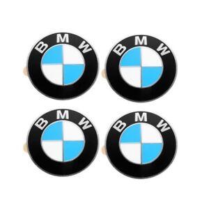 Set of 4 Emblem - Wheel Center emblems only For: BMW E36 E30 E34 E39 E60 X5