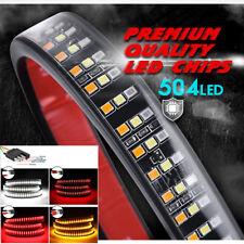 "60"" Triple Row 405 LED Tailgate Light Bar Flowing Turn Signal Brake/DRL/ Reverse"
