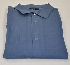 Alfani New With Tags Long Sleeve Casual Shirt 100% Cotton Size XL Blue