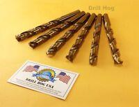 """Drill Hog USA 1/2"""" Cobalt Drill Bits M42 Drill Bit 6 Pack Lifetime Warranty"""