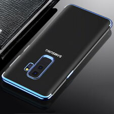 For Samsung S9 A8 Plus 2018 S8 Luxury Slim Clear Rubber Soft TPU Back Case Cover