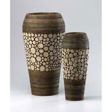 Decorative Vase Unique Wood Oblong Accent Flower Vases Set