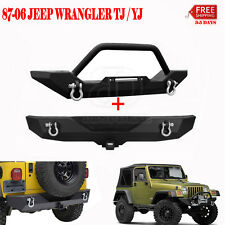 NEW FRONT BUMPER & REAR BUMPER FITS FOR 1987-2006 JEEP YJ TJ TEXTURED