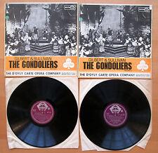 ACL 1151-2 The Gondoliers Gilbert & Sullivan D'Oyly Carte Opera 2xLP Decca EX/EX