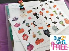 PP333 -- Kawaii Halloween Icons Planner Stickers for Erin Condren (40pcs)