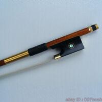 Top Model Pernambuco 4/4 Violin Bow Golden Mounted Ebony Frog Parisian Eye Bows