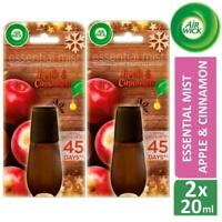 Air Wick Apple & Cinnamon Essential Mist Energising Refill x2