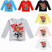 Tom and Jerry Frühling Langärmelig Jungen Mädchen Kinder Sweatshirt T-Shirt Tops