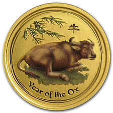 2009 Australia 1/10 oz Gold Lunar Ox Bu (Sii, Colorized) - Sku #56492