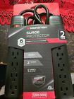 Monster Surge Protector Home 2 Pack 6 Grounded Outlets 2 Feet Extension New