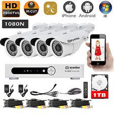 Eyedea 8CH 3500TVL 1080N DVR Night Vision Grocery CCTV Security Camera System 1T
