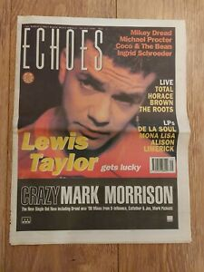 ECHOES MAGAZINE 20 JULY 1996 LEWIS TAYLOR MIKEY DREAD INGRID SCHROEDER THE ROOTS