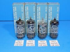 SET OF 4 NOS ARCTURUS 6211 TUBES FROM 1966 with one clear top