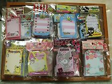 1 Set Collectible Sanrio Note Pad Memo Cute Souvenir Gift