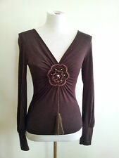 Individual Style! Satrinsha (Paris) size S chocolate top in excellent condition