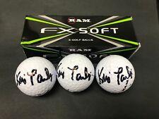 Lot (3) Kris Tamulis Signed Auto Ram Fx Soft Golf Balls Psa/Dna Sticker Only