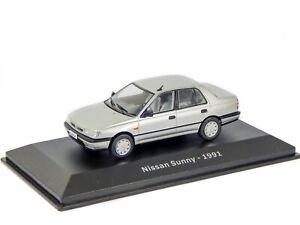 Nissan Sunny N14 Sedan Silver 1991 1:43 Model Car Hachette