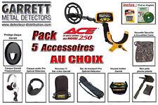 PROMO !!! Pack 5 - Détecteur Garrett Ace 250 + 5 Accessoires au choix