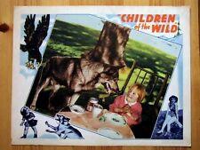 CHILDREN OF THE WILD Original WOLF EAGLE Lobby Card JOAN VALERIE JAMES BUSH