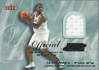 2000-01 Fleer Feel the Game #7 Michael Finley Jersey - NM-MT