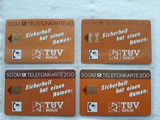 Vier außergewöhnlich wertvolle (3.400 €), postfrische Telefonkarten von 1988