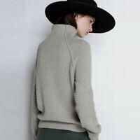 Knitwear Turtleneck Tops Loose Luxury Pullover Sweater Women's Cashmere Jumper