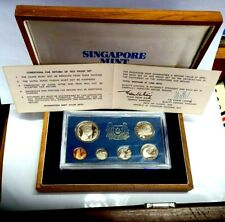 SINGAPORE 1973 PROOF SET. IMMACULATE. RARE .LOW 1000 MINTAGE ONLY.