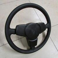 PORSCHE 924 944 NEW LEATHER Steering Wheel Three Spoke Black  94434708401 1DB