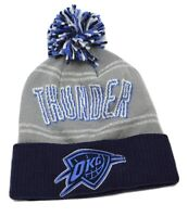 Oklahoma City Thunder OKC adidas KT26W NBA Basketball Logo Pom Knit Hat Beanie