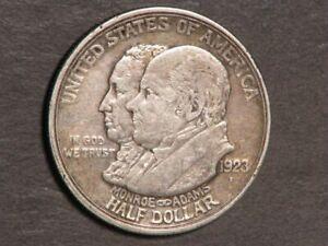 USA 1923-S 50 Cents Monroe Doctrine Silver VF