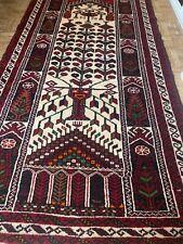 5.7 X 3.0 FT Handmade Rug ( Belouch) Clean & Nice Colors .