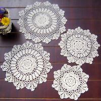 Retro Doilies Tablecloth Coasters Placemat Handmade Crochet Cotton Doily Cover