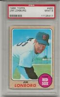 1968 TOPPS #460 JIM LONBORG, PSA 9 MINT, SET BREAK -BOSTON RED SOX, L@@K