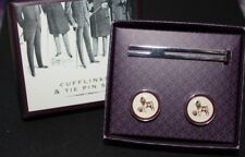 Emporium Tie Pin and Cufflinks set English Gentleman Boxer Bowler Hat and Beer