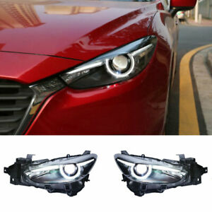 For Mazda 3 Axela LED Headlights Projector HID DRL Replace OEM Halogen 2017-2018
