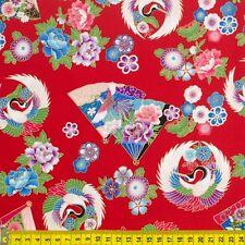 MAKOWER japonés Flor de Jardín 100/% Tela De Algodón Patchwork Quilting /& Craft