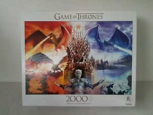 Buffalo Games GAME OF THRONES: FIRE AND ICE 2000 piece puzzle HBO licensed 2019